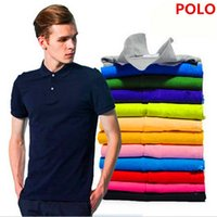 Wholesale clock m - New 2017 large size cotton short and Short sleeve polo t shirt crocodile size XS-4XL 25 clock color camisa polo Free Shipping.