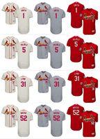 Wholesale cardinals red - custom Men's Women Youth Majestic Cardinals Jersey #52 Michael Wacha 1 Ozzie Smith 5 Albert Pujols 31 Lance Lynn Home Baseball Jerseys