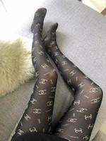 siyah altın atı toptan satış-Siyah Seksi X Mektup Külotlu Hortum Lüks Moda Bükülmüş Altın Tam Mektubu Tayt Marka Tasarım Külotlu Çorap