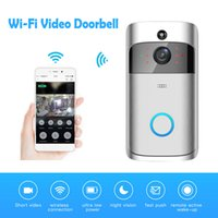 Wholesale wireless door camera intercom - Wireless IP Doorbell 720P Camera Video Phone WIFI Door bell Night Vision IR Motion Detection Alarm Security Doorphone Intercom Control