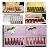 güzel sevgililer günü toptan satış-Yeni Sıcak Lipkit Valentine Edition 5 tarzı güzel 6 adet Set Ruj Lipgloss Yüksek Kalite Sevgililer Hediye