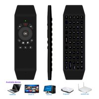 Wholesale computer pc windows for sale - Group buy 2 G Air Mouse Wireless Rechargeable Computer Keyboard IR Learning with Microphone for Google Android TV Box Smart TV PC HTPC Windows