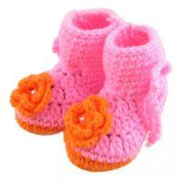 baby handgefertigte socken großhandel-Kinder Schuhe Baby Schuhe Schuhe Baby Mädchen / Jungen stricken Handmade Cute Infant Sock Walker