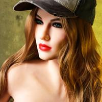 amor boneca silicone vendido venda por atacado-Top Vender Homens Realistic Sex Doll New Arrival 168 centímetros mama Big Full Body Silicone Sex Doll Com real Vagina Adulto Love Doll Para Melhor Men5.51ft