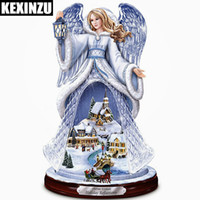 Wholesale painted decorative panels online - Diy NEW D Full diamond painting Holiday Reflections Crystal Angel by The Bradford ExchangeSculpture decorative gift