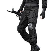 ingrosso applique pad-Tattici pantaloni cargo Pantaloni Uomo Camouflage Pantalon Frog ginocchiere lavoro Pantaloni Army Swat Pantaloni militari