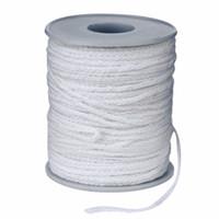 carretes de algodón al por mayor-Carrete de algodón trenza cuadrada Velas mechas Wick Core 61m x 2.5mm para velas que hacen las compras