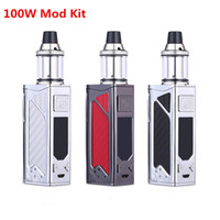 Wholesale electronic cigarette mod mech - electronic cigarette 100W box mod Huge Vapor 2200mah bulit-in battery 3.5ml tank Mech Box vape pen with LED screen e-cigarettes Vape mod kit