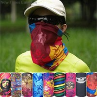 Wholesale clothes wraps online - bandana Outdoor Hiking Cycling Skiing Fishing Windproof UV Protection Camouflage Bandana Face Mask Neck Scarves Wraps Headwear