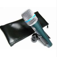 el tel pc toptan satış-2 ADET / GRUP En Kaliteli ve Ağır Vücut BETA57 Profesyonel BETA57A Karaoke El Dinamik Kablolu Mikrofon Beta 57A 57 Bir Mic