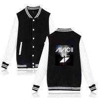 флисовая бейсбольная куртка женщины оптовых-DJ Avicii Бейсбол куртка печати коллаж стиль зима женщины / мужчины мода пальто женщины / мужчины вентиляторы повседневная Бейсбол куртка
