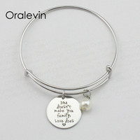 Wholesale dna pendant for sale - Group buy DNA DOESN T MAKE YOU FAMILY LOVE DOES Inspired Hand Stamped Engraved Pendant Bracelet Bangle Gift Jewelry LN1937B