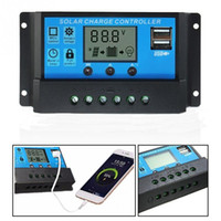 Wholesale 12v 24v battery charge controller resale online - 10A A A V V LCD Solar Charge Controller with Auto Regulator Timer for Solar Panel Battery Overload Protection Lead acid batteries