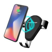 araba tutacağı şarj cihazı toptan satış-Kablosuz Araç Şarj 2 in 1 Araç Montaj Hava Firar Telefon Tutucu Hızlı iPhone Samsung iPhone ve Diğerleri için Şarj Qi Telefonlar
