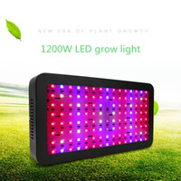 Wholesale blue shell lamp - Full Spectrum black shell 1200W LED Grow Light Double Chip Led Plant Lamp Indoor greenhouse growing garden flowering hydroponic lights