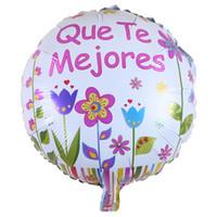 karikatür öpücü toptan satış-18 Inç Karikatür Metalik Balonlar Geçmiş Olsun Hug Kisses Arkadaşlar Tebrikler Mektup Kendini İyileştirme Hediye 0 55lq Ww