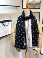 ingrosso vestiti di boxe-Sciarpa invernale e cappelli set di due abiti Per uomo e donna di lusso in lana di lusso di lusso fazzoletto di design sciarpe più spessa sciarpa con scatola
