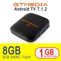 Wholesale GTmedia G1 TV Box Media Player GB RAM GB ROM S905W Android Remote Control K K HD G Built In Wifi Set Top Boxes IPTV