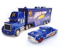 Wholesale Trucks Toys For Kids - Cars 2 Toys 2pcs Lightning Mack Truck The King 1:55 Diecast Metal Alloy Modle Figures Toys Gifts For Kids