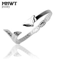 bracelet de renard achat en gros de-MNWT Marque Fox Motif Argent Bracelet Femmes Bijoux De Mode Rétro de Haute Qualité Bracelet Femelle UE Style À La Main Bracelet Femmes