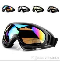 розовые очки для мотоциклов оптовых-Открытый новый X400 Велоспорт очки велосипед мода спортивные очки пешие прогулки лыжный мужчины мотоцикл солнцезащитные очки светоотражающие взрывозащищенные очки