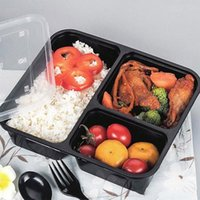 Wholesale Compartment Lunch Containers - 3 Or 4 Compartment Meal Prep Plastic Container With Lids Disposable Take Out Containers Lunch Box Food Storage Microwavable Supplies XL-545