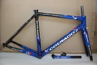 bisikletler toptan satış-ÜCRETSIZ kargo yol bisikleti karbon çerçeve tam karbon fiber yol bisikleti çerçeve XS Sml XL T1000 karbon frameset