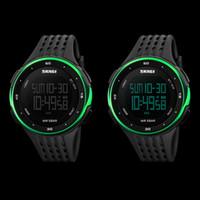 большие мужские спортивные часы оптовых-1PCS Individuality Men Women Electronic Waterproof Big Face Digital Watch Outdoor Sport Multifunction Wrist Watch Wristbands