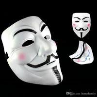 ingrosso v maschere anonime-Maschere di partito V per maschere di faida Anonimo Guy Fawkes Fancy Dress Costume adulto Accessorio Decorazioni di Halloween Maschere Cosplay