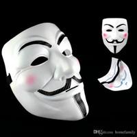silikon-kostüme großhandel-Party Masken V Wie Vendetta Masken Anonym Guy Fawkes Kostüm Zubehör Halloween Dekorationen Party Cosplay Masken