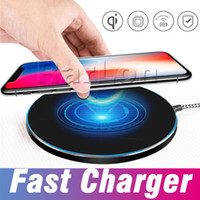 Wholesale best qi chargers online – Best Charger Qi Fast Wireless Charging Pad Portable Charger For iphone X Plus Samsung Galaxy S8 plus S7 S6 Note8 all Qi abled devices