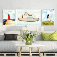 Wholesale frames for kids art resale online - Retro Abstract Art Canvas Painting Poster Prints Wall pictures for living room kids baby bedroom Home Decor No Frame Nordic