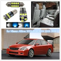 Wholesale Nissan Altima Cars - WLJH 7x Map Dome Trunk Door Light Led T10 W5W Car Led Interior Light Package for Nissan Altima 2002 2003 2004 2006 2005