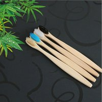 Wholesale charcoal toothbrushes - Bamboo Toothbrush Bamboo Charcoal Toothbrush Soft Nylon Capitellum Bamboo Toothbrushes for Hotel Travel Tooth Brush Wholesale