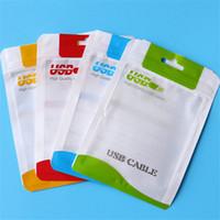 ingrosso borse chiare della chiusura lampo 15-10.5 * 15 Chiaro plastica bianca poli sacchetti OPP imballaggio cerniera serratura pacchetto accessori PVC scatole al dettaglio maniglie per USB cavo cellulare caso