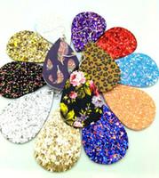 pendientes de plastico vintage al por mayor-20 pares de aretes de hoja de cuero sintético livianos lágrima cuelgan mucho lote hecho a mano para mujeres niñas