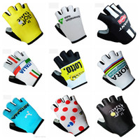 Wholesale astana cycling team - 2018 Tour de france ASTANA Giant Bora Lotto Data Inelli Cycling Bike Bicycle Team Antiskid GEL Sports Half Finger Gloves