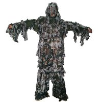 свободная камуфляжная одежда оптовых-Summer light and thin style Forest camouflage Bionic Ghillie Suits Paintbal  camouflage hunting clothing free shipping