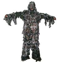 ropa de camuflaje gratis al por mayor-Verano ligero y fino estilo de camuflaje del bosque Bionic Ghillie trajes Paintbal camuflaje ropa de caza envío gratis