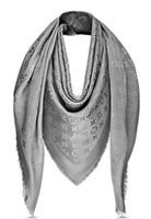 baumwollschals verpackt großhandel-Hohe qualität promi design kaschmir baumwolle streifen schal frau brief druck schals schal wrap große quadratische 140 * 140 cm