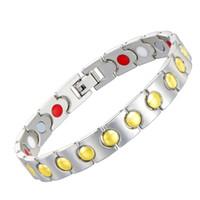 Wholesale mens health bracelets - Free Shipping Gold Color Copper Chains Link Mens Magnetic Bracelet For Women Magnets Health Bracelet Bangles Jewelry Wholesale