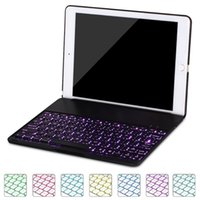 Wholesale ipad smart case keyboard - Bluetooth 3.0 Keyboard Case For iPad Pro Wireless Keyboard Smart Case Cover Auto Sleep with Backlit for iPad Pro 10.5 inch 2017