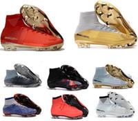 ag ayakkabıları toptan satış-Yeni 2018 Erkekler Mercurial Superfly CR7 FG AG Futbol Çizmeler Cristiano Ronaldo Yüksek Neymar JR ACC Futbol Ayakkabıları Tops Magista Obra Futbol Cleats