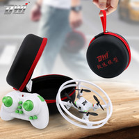 Wholesale Helicopter Case - Mini Drone RC Quadcopter Nano Drones Pocket Drone Case RC Helicopter 2.4GHz Gift for Children Toys Dwi Dowellin D1