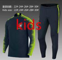 Wholesale football training pants tight - 2018 Brazil kids suit training suits Uniforms shirts Chandal 18 19 child football tracksuits Survetement long sleeve tight pants