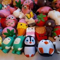 correa de zorro al por mayor-Squishy cakes fox squishies enormes Slow Rising 9cm-15cm Soft Squeeze Cute Cell Phone Strap gift Stress children toys Descompresión Toy
