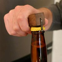 Wholesale beverage quality - Wooden Handle Bottle Opener Nail Corkscrew Magnet Beer Bottle Coke Juice Beverages Opener Eco-friendly High Quality NNA72