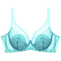 89dc27829 Soutien-gorge en dentelle Push Up Bra C D E Cup Plus Size Femme Underwear  Underwire Brassiere Blanc Noir Vert 34 36 38 40 Tops lingerie