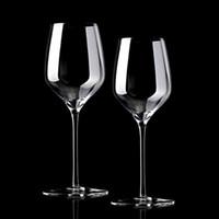 hochzeitswein-set großhandel-Großhandel Glas Rotwein Glas High-pin-Kristall bleifreies Cocktail Champagner Glas, Geist Tasse Hochzeit liefert Bar-Set