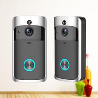 Wholesale Doorbell Intercom Vision - M3 Wireless Video Doorbell WIFI Remote Intercom Detection Electronic HD Visible Monitor Night Vision 10pcs lot